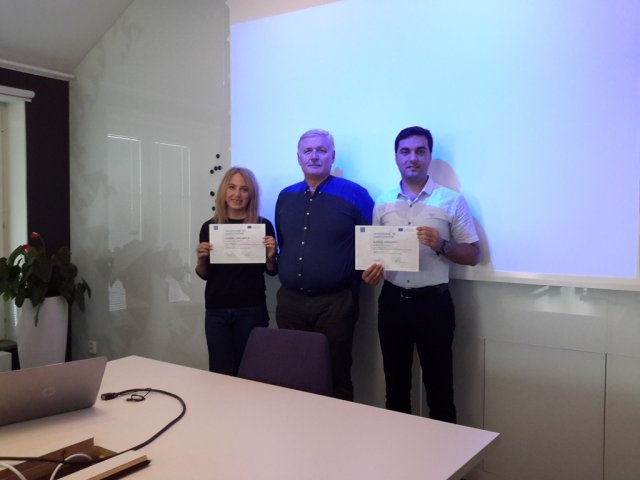 Сотрудники МГУ из Университета Королевского Телекома в Швеции  вернулись с сертификатом